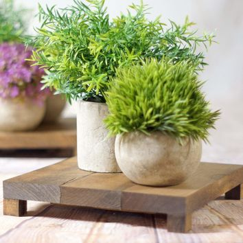 Set of Wood Risers, wooden stand, rustic tray