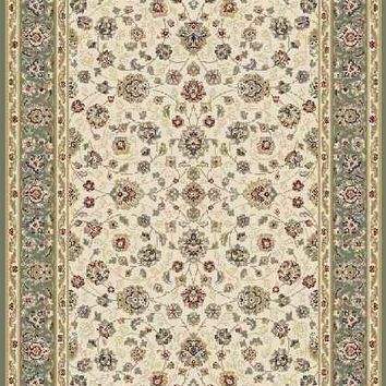 Floral Green Beautiful Modern Wool Rug