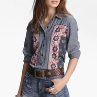 Free people Bohemia Floral Denim Vintage Shirt [8069639175]