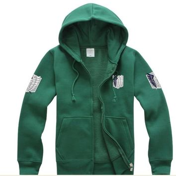 Cool Attack on Titan 2017  Hoodie Jackets Cosplay Costume no  Legion Scouting Sweatshirts for Women Men AT_90_11