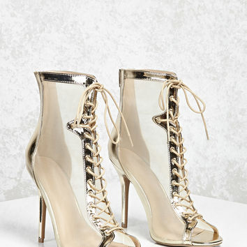 Metallic Mesh Stiletto Heels