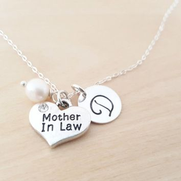 Mother in Law Necklace - Personalized Birthstone Necklace - Gift for Her