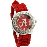 Alabama Crimson Tide Womens Silicon Big Logo Watch - Crimson