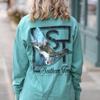 Flying Duck Long Sleeve Tee {L. Green}