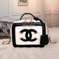 Perfect CHANEL Women Fashion Leather Chain Satchel Shoulder Bag Handbag Crossbody