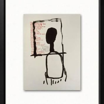 Untitled Framed Art Print by Jean-Michel Basquiat at Art.com