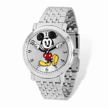 Silver Dial Mickey Mouse Watch