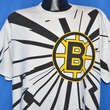 90s Boston Bruins All Over Print t-shirt Extra Large