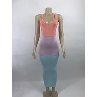 Colorblock sundress