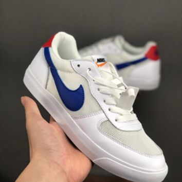 HCXX 19July 627 Nike BLAZER LOW Mesh Breathable Retro Board Shoes white blue