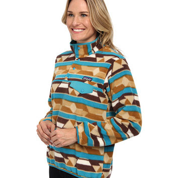 Patagonia Lightweight Synchilla® Snap-T® Pullover Guatemalan Tango/Bear Brown - 6pm.com