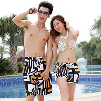 Mens Womens Lovers swiming Beach Surf Board Swim Shorts Trunks Pants 2 pairs = 1704212420