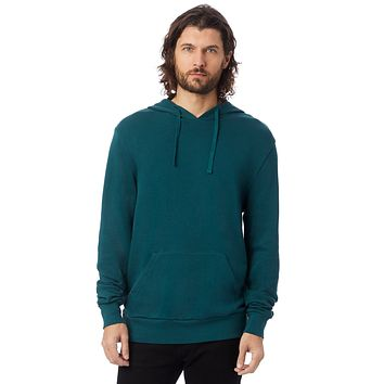Alternative Apparel Challenger Washed French Terry Pullover Dark Teal Hoodie