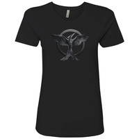 Our Leader The Mockingjay Ladies Short Sleeve T-shirt