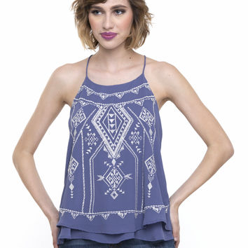 Hey Mama Embroidered Top