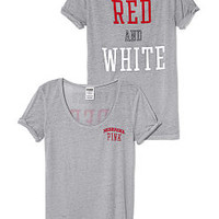 University of Nebraska Rolled Cuff Tee - PINK - Victoria's Secret