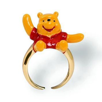 Fun Winnie The Pooh Adjustable Colorful Noble Party Ring