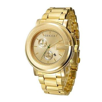 GUCCI Ladies Men Quartz Watches Business Wrist Watch Gold I