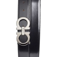 Salvatore Ferragamo Reversible Leather Belt,