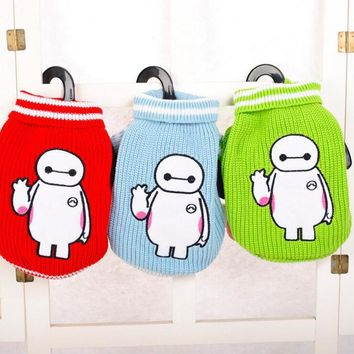 Hot Sale Teddy Bear Dog Sweater Lovely Winter Warm Kitting Dog Cat Costume 3 Colors Size S-XL Small Dog Clothes