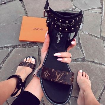 LV Slipper Women Sandals ''Louis Vuitton'' Slippers LV Fashionable casual Shoes