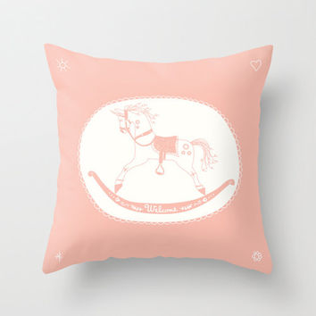 Rocking Unicorn Pillow Case / Option to Personalize with Your Name on It