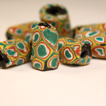 Millifore Antique African Trade Beads Venetian Glass Beads Vintage Colorful Beads