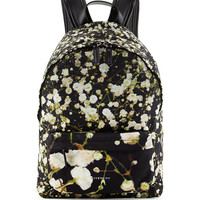 Baby's Breath Printed Large Backpack, Black/Multi - Givenchy