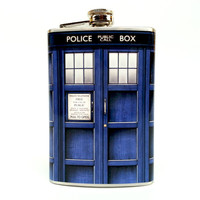 Doctor Who TARDIS Flask - 8oz Stainless Steel Flask
