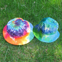 Tie-Dye Bucket Hat in Rainbow and Other Swirls for Kids or Adults