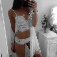 gather Lace bikini