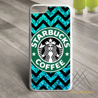 Starbuck Coffee Chevron Glitter Custom case for iPhone, iPod and iPad