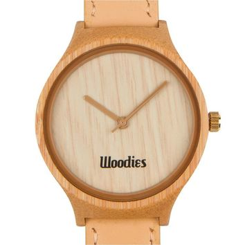 Tan Bamboo Wood Watch