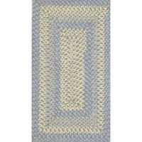 "Blue and Yellow ""Braided"" Rug @ miniatures.com"