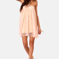 Blaque Label Anthology Strapless Peach Dress