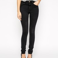 ASOS Ridley Skinny Jeans in Washed Black