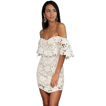Beauty & Lace Nude Chochet Dress