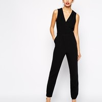 New Look Tailored Wrap Jumpsuit