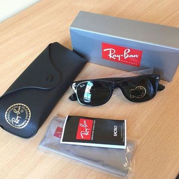 ICIKIN2 Genuine Ray-Ban ORB2132 901 New Wayfarer sun glasses BLACK