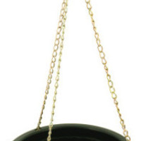 small hanging flower pot with metal link chain Case of 12
