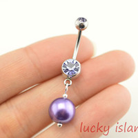 bellyring,pearl belly button rings,bellybutton jewelry,navel ring,pearl body piercing,friendship bellyring