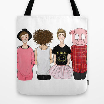 5SOS Tote Bag by Girlwiththetea