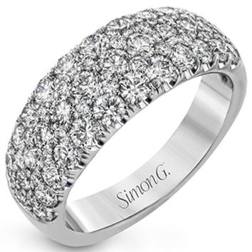 Simon G. Pave Diamond Three Row Right Hand Ring