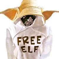 Harry Potter Inspired Adult Hooded Sweatshirt Free Elf