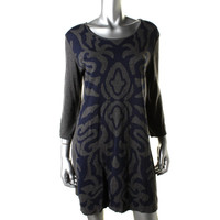 Style & Co. Womens Knit Scoop Neck Sweaterdress