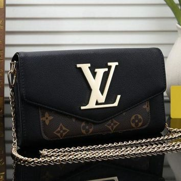Louis Vuitton LV Fashion New Women Leather Chain Satchel Shopping Crossbody Shoulder Bag