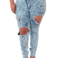 Plus Size Ripped Acid Wash Denim Jeans, Plus Size Clothing, Club Wear, Dresses, Tops, Sexy Trendy Plus Size Women Clothes