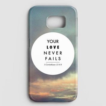 Your Love Never Fails Samsung Galaxy Note 8 Case
