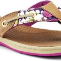 Sperry Top-Sider Seafish Thong Sandal Linen/PinkFloral, Size 6M  Women's Shoes