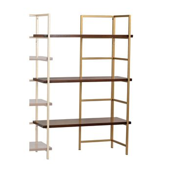 Balart Gold and Walnut Extension for Shelf Unit Walnut,Gold